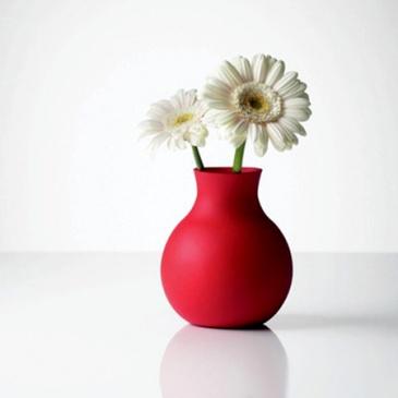 Gumowy wazon duży dwa w jednym czerwony Living Room Menu