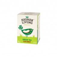 Herbata zielona Coconut 20 saszetek Higher Living