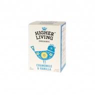 Herbata ziołowa Chamomile & Vanilla 15 saszetek Higher Living