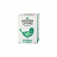 Herbata ziołowa Peppermint & Licorice 15 saszetek Higher Living