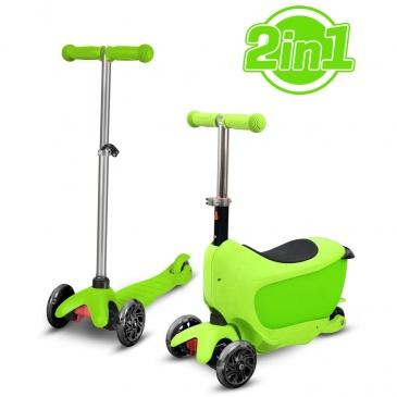 HULAJNOGA TAMAN 2W1 ZIELONA  Buddy Toys BPC 4311