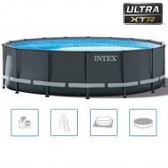 Intex Basen okrągły z akcesoriami Ultra XTR Frame, 488x122 cm, 26326GN