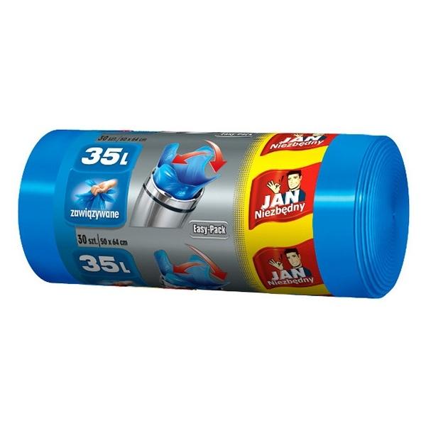 JAN NIEZBĘDNY 35l 30szt. Worki HD Easy-pack niebieskie MAX-03653