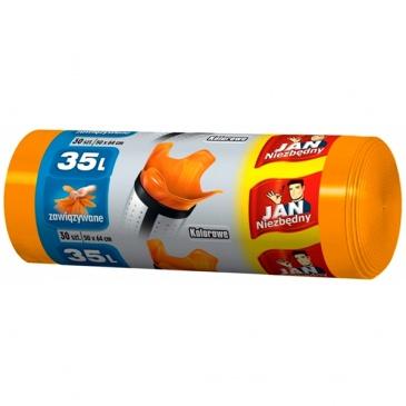 Jan Niezbędny worki HD 35L/30szt. kolorowe