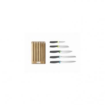 JJ - Bambusowy blok z 5 nożami, Elevate