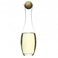 Karafka na wino z dębowym korkiem 1l Sagaform Oval Oak