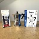 kawiarka moka express bialetti opakowanie i kawa