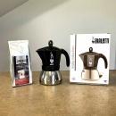 kawiarka moka induction opakowanie z kawą