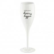 Kieliszek do szampana Koziol CHEERS NO.1 MAKE YOUR DREAMS HAPPEN biały KZ-3441525