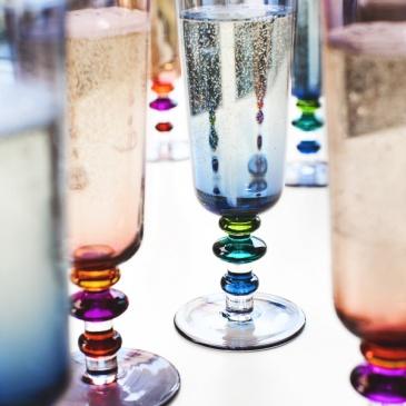 Kieliszki do szampana 2 szt. Sagaform Spectra niebieskie