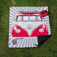 Koc piknikowy z torbą Samba 30x17x17 cm BRISA VW BUS czerwony