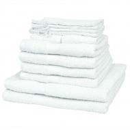 Komplet 12 ręczników, bawełna, 500 g/m², biały