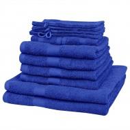 Komplet 12 ręczników, bawełna, 500 g/m², szafirowy