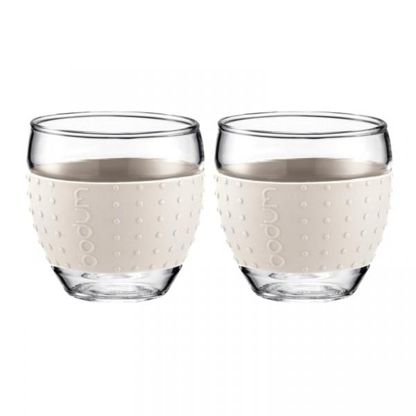 Komplet 2 szklanek 0,35l Bodum Pavina biała BD-11185-913