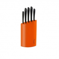 Komplet noży w bloku 5szt. Vialli Design 100O pomarańczowy