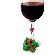 korek do wina Christmas i 6 znaczników na kieliszki