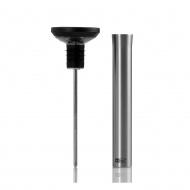 Korek z termometrem 4,5x15,3cm i wylewką AdHoc Gusto czarny