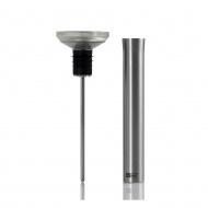 Korek z termometrem i wlewką 4,5x15,3cm i wylewką AdHoc Gusto  srebrny