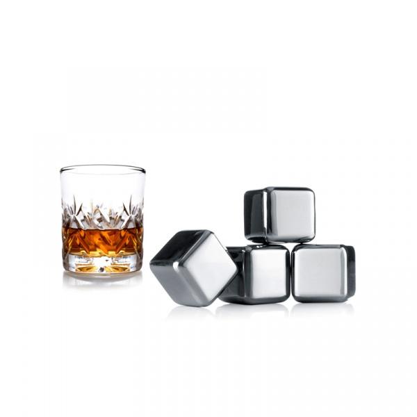 Kostki chłodzące do whisky Vacu Vin stalowe VV-18603606
