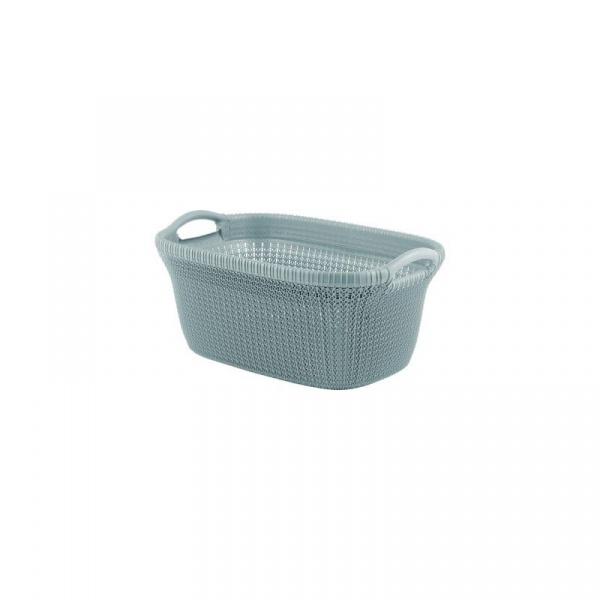 Kosz do przenoszenia prania Curver Knit szaroniebieski CUR-228409