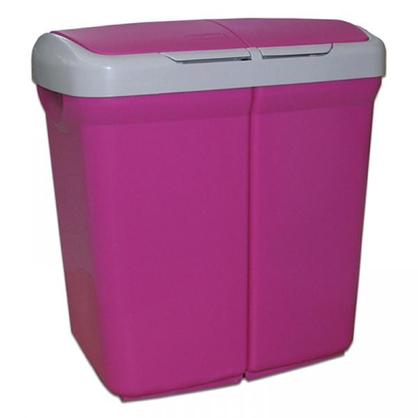 Kosz do segregacji odpadów Meliconi Ecobin 2x25L fioletowy 14106103534BA