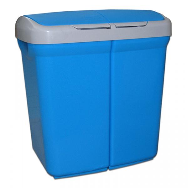Kosz do segregacji odpadów Meliconi Ecobin 2x25L niebieski 14106115234BA