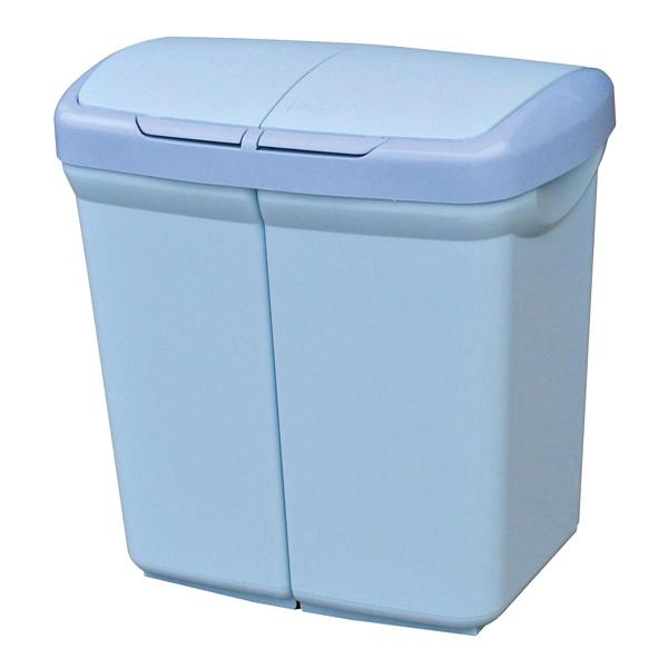 Kosz do segregacji odpadów Meliconi Ecobin 2x25L niebieski 14106129153BA