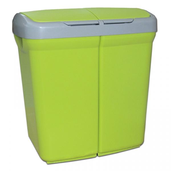 Kosz do segregacji odpadów Meliconi Ecobin 2x25L zielony 14106115334BA