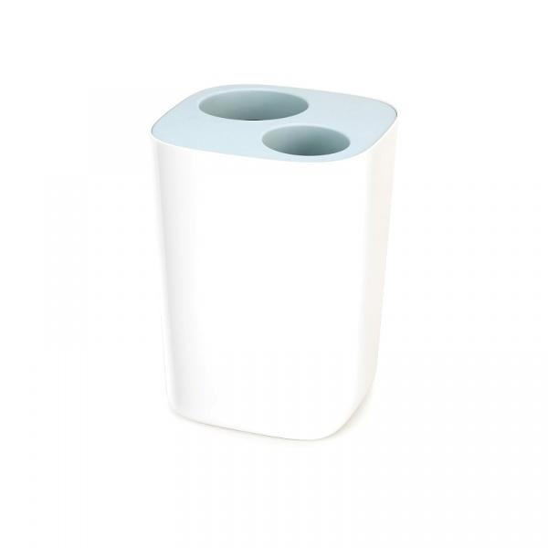 Kosz łazienkowy 19,1x18,9x27,9cm Joseph Joseph Split™ biało-błękitny 70505