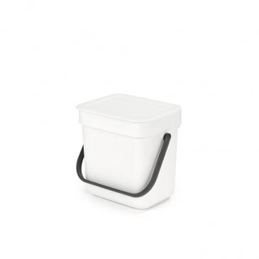 Kosz na odpadki Sort & Go biały 3L 209864
