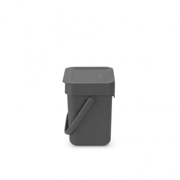 Kosz na odpadki Sort & Go szary 3L 209888