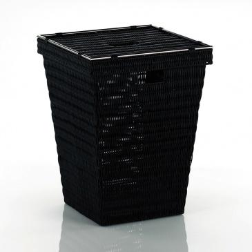 kosz na pranie, 40x40x53 cm, czarny