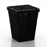Kosz na pranie 40x40x53 cm Kela czarny