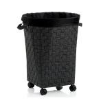 kosz na pranie, śred. 44 x 55 cm, czarny