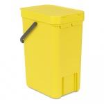 Kosz na śmieci kuchenny 12l Brabantia 'Sort&Go' żółty