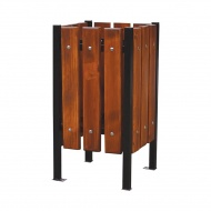 Kosz na śmieci ogrodowy 38x38cm Fiemar brązowy