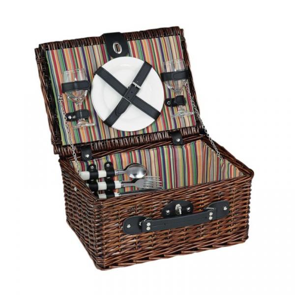 Kosz piknikowy dla 2 osób Cilio Bellagio brązowy CI-155761