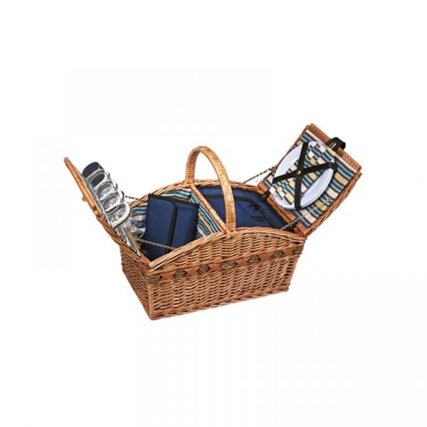 Kosz piknikowy dla 4 osób Cilio Verbania Deluxe CI-155709