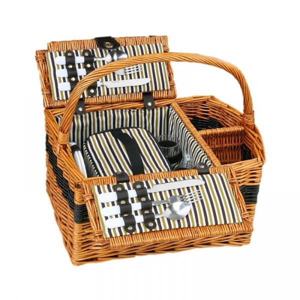 Koszyk piknikowy z wyposażeniem dla 2osób Cilio Cernobbio CI-156621