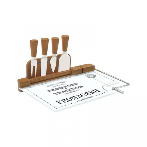 Krajalnica bambusowa do sera z nożami 4szt Nuova R2S Delices Gourmets 810 DEGO