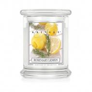 Kringle Candle - Rosemary Lemon - średni, klasyczny słoik (411g) z 2 knotami