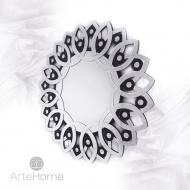 Kristina - okrągłe lustro dekoracyjne w ramie lustrzanej