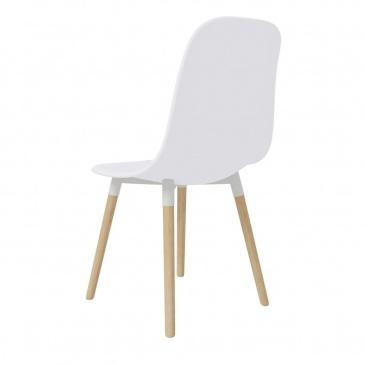 Krzesła jadalniane, 2 szt., białe, plastikowe