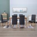 Krzesła jadalniane, 6 szt., szare, tkanina
