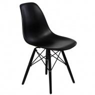 Krzesło 45x80x39 D2 P016W PP Czarne