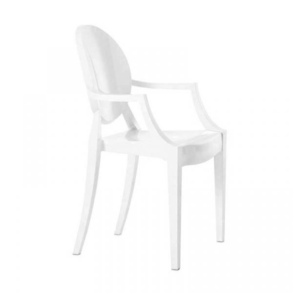 Krzesło 52,5x55,5x92,5cm King Home Louis Białe 124.APC.BIALY