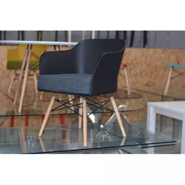 Krzesło Barone King Bath czarne SI-KPW-029.CZARNY