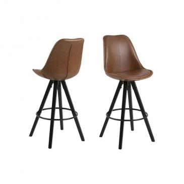 Krzesło barowe Dima Brandy Actona ekoskóra brąz 5705994979534