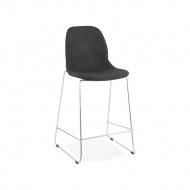 Krzesło barowe Kokoon Design Pablo Mini ciemnoszare nogi chromowane