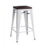 Krzesło barowe Paris Wood D2 75cm białe/sosna orzech